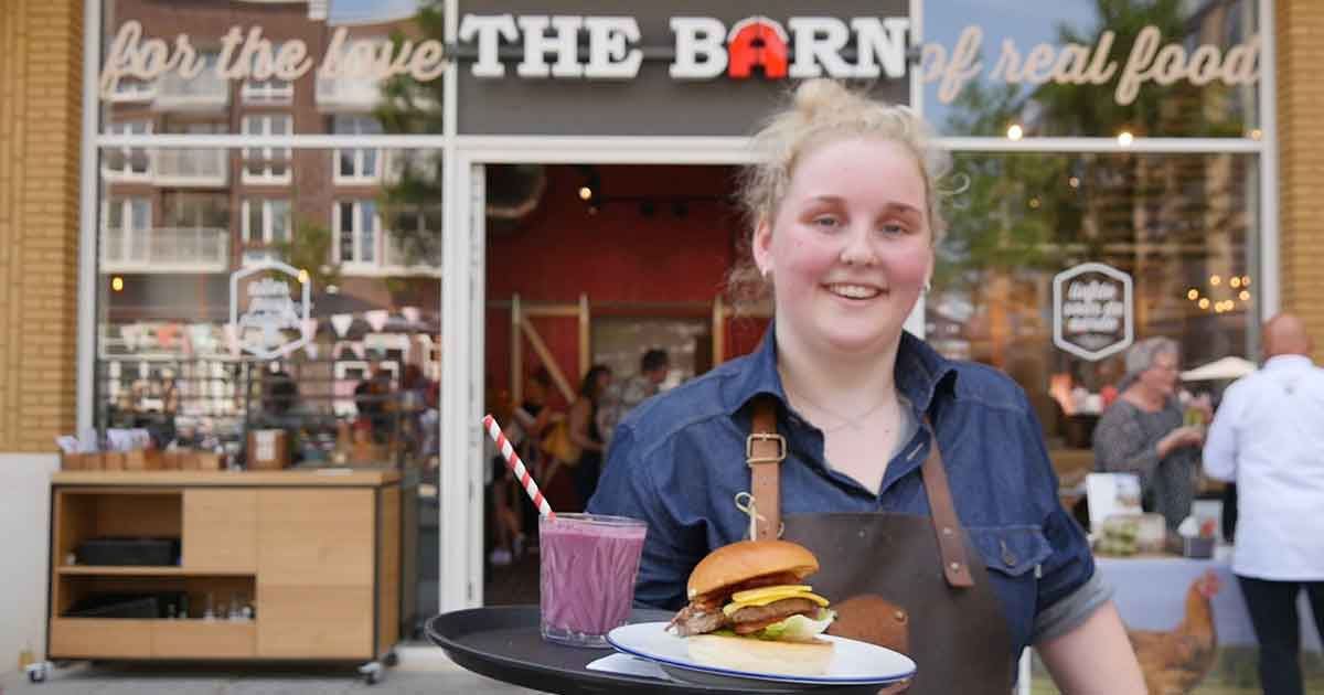 biologische hamburger van The Barn